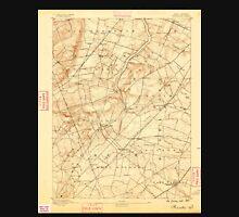 USGS TOPO Map New Jersey NJ Princeton 255340 1888 62500 Unisex T-Shirt