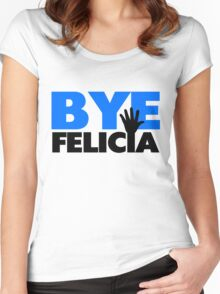 Bye Felicia Hand Wave Bold Blue Women's Fitted Scoop T-Shirt