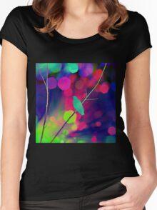 Bird , Branch, Bokeh Women's Fitted Scoop T-Shirt