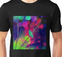 Bird , Branch, Bokeh Unisex T-Shirt