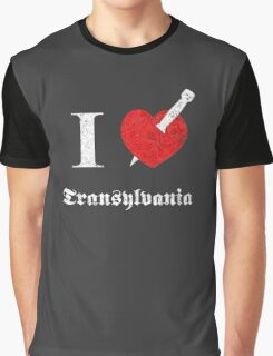 I love Transylvania (white eroded font) Graphic T-Shirt