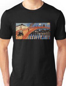 Japanese Print:  Warriors on a Bridge Unisex T-Shirt