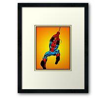 Comic Spider Man Framed Print