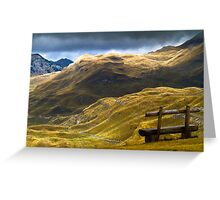 Mountains in autumn. Greeting Card