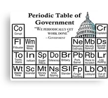 Periodic Table of Government  Canvas Print