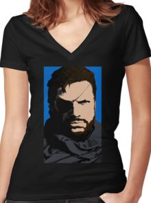 Snake Art Women's Fitted V-Neck T-Shirt