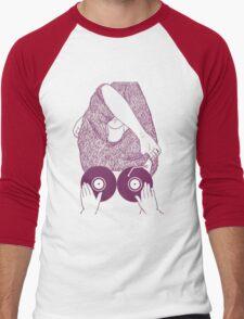 BOOBS VINYL Men's Baseball ¾ T-Shirt