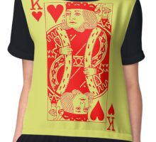 KING OF HEARTS-RED Chiffon Top