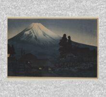 Japanese Print:  Fuji at Night Kids Tee
