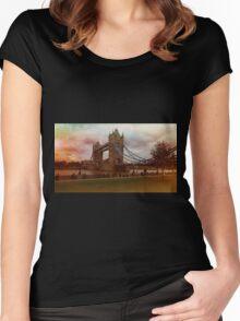Dusk @ London Tower Bridge  Women's Fitted Scoop T-Shirt