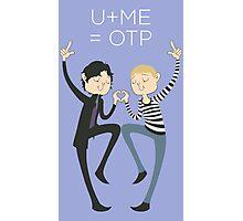 U+ME=OTP JOHNLOCK Photographic Print