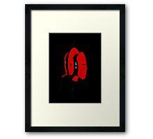 Portal - Turret Soup Red/Black Framed Print