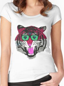 Tiger Vector Women's Fitted Scoop T-Shirt