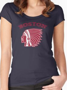 Boston Braves - 1912 logo Women's Fitted Scoop T-Shirt