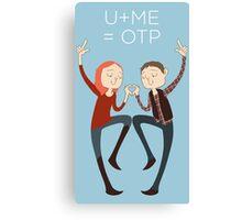 U+ME=OTP AMYxRORY Canvas Print