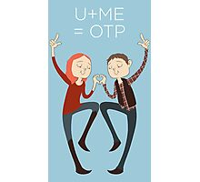 U+ME=OTP AMYxRORY Photographic Print