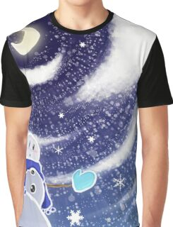 Moon Snow Graphic T-Shirt