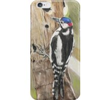 Spotted wood pecker  iPhone Case/Skin