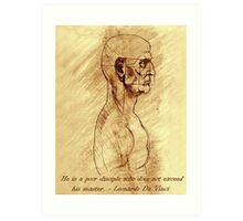 Da Vinci Copy and Quote Art Print