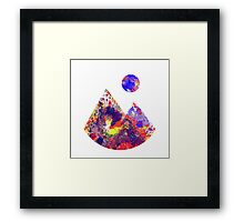Primary Landscape - Abstract Geometric Art In Primary Colours, Red, Blue And Yellow Framed Print