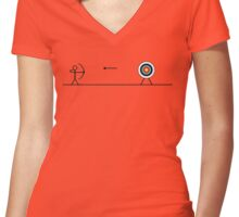 Shooting! Women's Fitted V-Neck T-Shirt