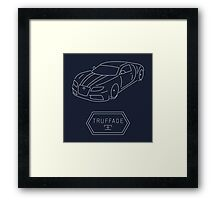 GTA V - Adder Outline (White) Framed Print