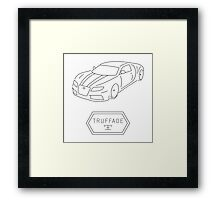 GTA V - Adder Outline (Black) Framed Print