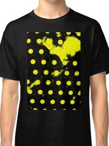abstract polka dots yellow Classic T-Shirt