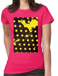 abstract polka dots yellow Womens Fitted T-Shirt