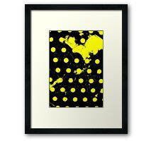 abstract polka dots yellow Framed Print
