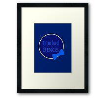 Time Lord of the Rings Framed Print