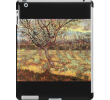 'Apricot Trees In Blossom' by Vincent Van Gogh (Reproduction) iPad Case/Skin