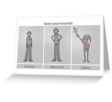 Know Your Hearts Greeting Card