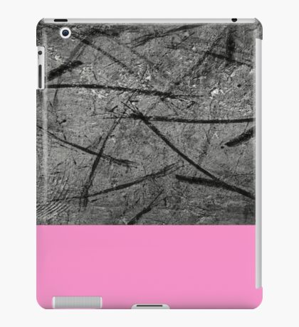 Enter Pink - Black And White Abstract Mixed Media + Block Pink iPad Case/Skin