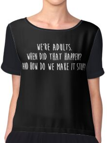Grey's Anatomy - We're Adults, How do we make it stop? Black Women's Chiffon Top