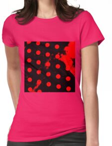 abstract polka dots red Womens Fitted T-Shirt