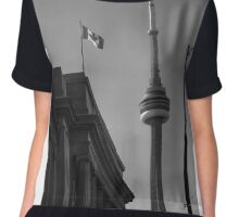 CN TOWER TORONTO Chiffon Top
