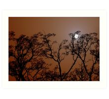 Moonlit Dust Storm Art Print