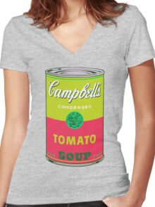 Campbell's Soup Andy Warhol Women's Fitted V-Neck T-Shirt