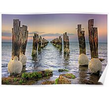 Old Jetty - Clifton Springs Poster