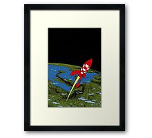 Tintin in Space Framed Print
