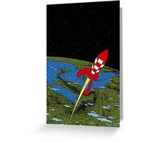 Tintin in Space Greeting Card