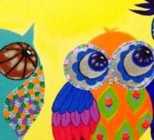 Owls sitting in a tree Sticker
