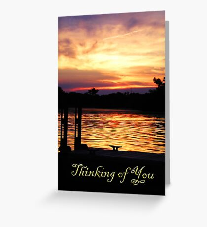Thinking of You Boat Dock Greeting Card