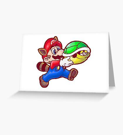 Raccoon Mario Greeting Card