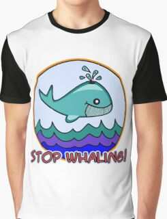 Stop whaling! Graphic T-Shirt