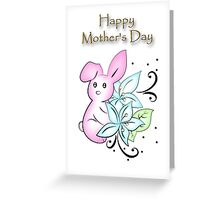 Mother's Day Bunny Greeting Card