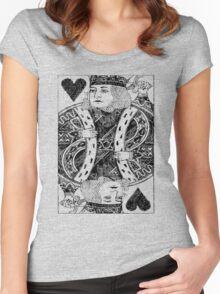 Gen King of Hearts Mirage-3 Women's Fitted Scoop T-Shirt
