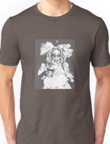 Black and White Phatima luvs Ice Cream Unisex T-Shirt