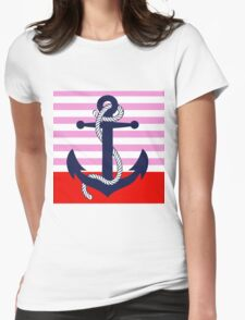 Ahoy! (pink dipped) Womens Fitted T-Shirt